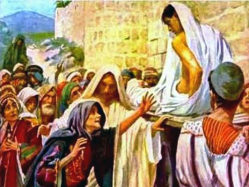 Jesus a Viuva de Naim e um Grande Milagre