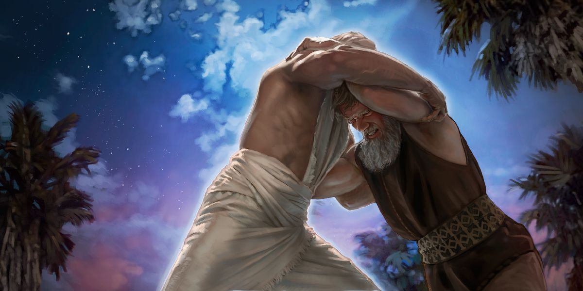 Jaco lutando com o Anjo do Senhor